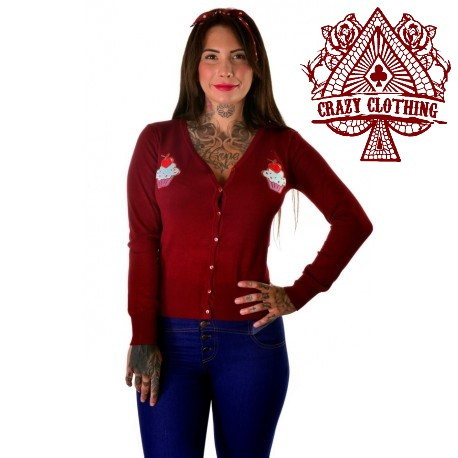 Cardigan Crazy Clothing Bordeaux Cup Cake