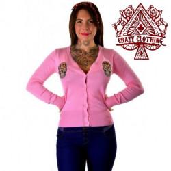 Cardigan Crazy Clothing Rose Skull Mex