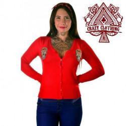 Cardigan Crazy Clothing Rouge Skull Mex