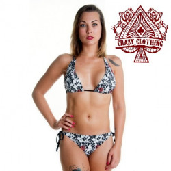 MAILLOT PIN UP SKULL