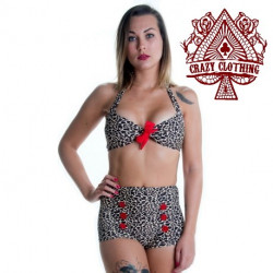 MAILLOT PIN UP LEOPARD