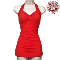 MAILLOT PIN UP Rouge