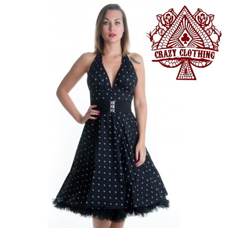 ROBE MARILYN CRAZY CLOTH ANCRE