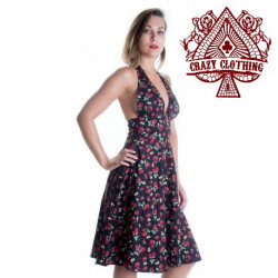 Robe Marilyn Crazy Clothing Noire Fraise