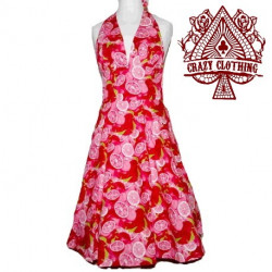 Robe Marilyn Crazy Clothing Rouge Pamplemousse