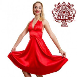 Robe Marilyn Crazy Clothing Rouge Satin