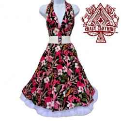 Robe Marilyn Crazy Clothing Flowers Pink