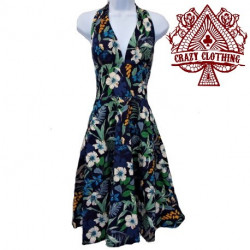 Robe Marilyn Crazy Clothing Flowers Blue