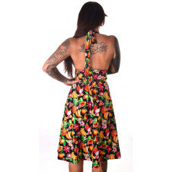 Robe Marilyn Crazy Clothing Fruits Exotiques noire