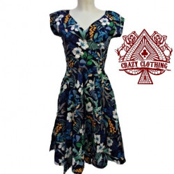 Robe Crazy Clothing Cache Coeur Flower Navy