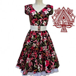 Robe Crazy Clothing Cache Coeur Flower Pink