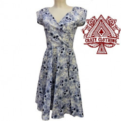Robe Crazy Clothing Cache Coeur Skull Blue