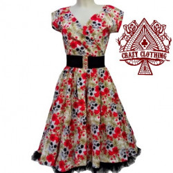 Robe Crazy Clothing Cache Coeur Skull Red