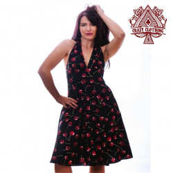 Robe Marilyn Crazy Clothing Cerise noire