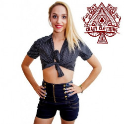 Short Taille Haute Crazy Clothing Zip F