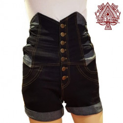 Short Taille Haute Noeuds Clair