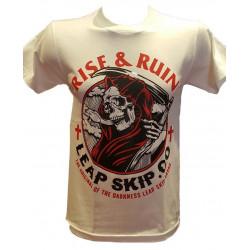 T-Shirt Rise And Run Blanc