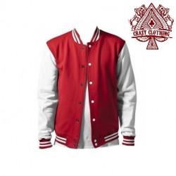 Teddy Homme Rouge et Blanc Coton Epais