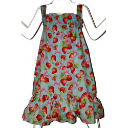ROBE LITTLE FAIRY BLEU FRAISE