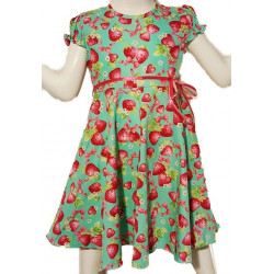 Robe Little Fairy Strawberry Turquoise