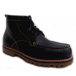 Chaussures Verns Cuir Lacets Black H