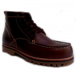 Chaussures Verns Cuir Lacets Brown H