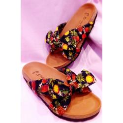 Sandales Crazy Clothing Ananas Marine