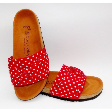 Sandales Crazy Clothing Rouge Pois 3