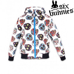 Veste Zip Garcon Six Bunnies Skull White