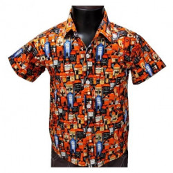 Chemise Garcon Motif whisky