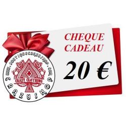 Cheque Cadeau 20e