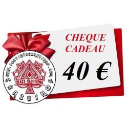 Cheque Cadeau 40e