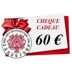 Cheque Cadeau 60e