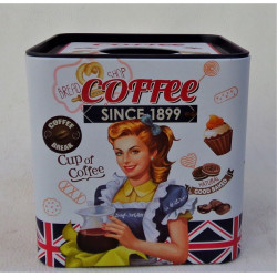 Boite a Mouchoirs Carre Deco Pinup Coffee White