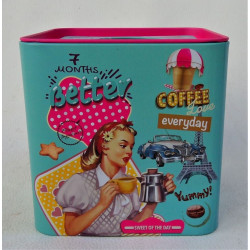 Boite a Mouchoirs Carre Deco Pinup Coffee Blue