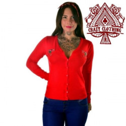 Cardigan Crazy Clothing Rouge Cerise