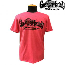 T-shirt Gas Monkey Logo Red Heather