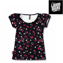 Top Daisy Cherry Black