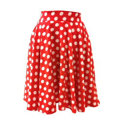 Jupe Swing Rouge Pois Blanc