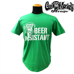 T-shirt Beer Assistant Green