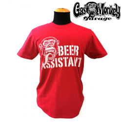 T-shirt Beer Assistant red
